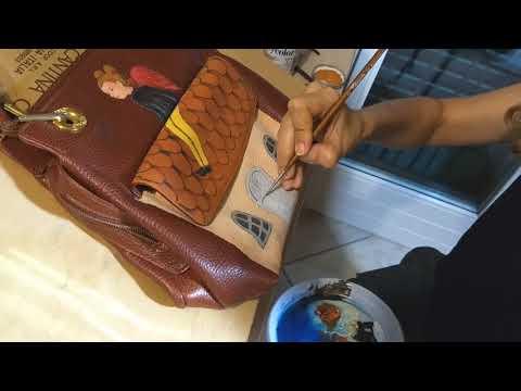 #handpaintedbags  #diy borse dipinte