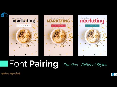 graphic-design-theory-||-font-pairing-practice-different-styles-||-typography-theory