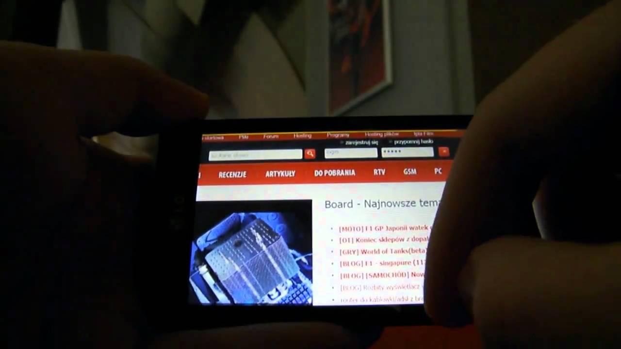 Download Interfejs telefonu LG SWIFT 7 (Optimus 7) bazującego na Windows Phone 7