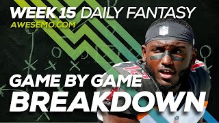 NFL DFS Strategy - Week 15 Top Targets - 2019 Fantasy Football