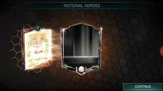 FIFA MOBILE 18 - ODBIERAM IKONĘ 90+ Z NATIONAL HEROES - MEGA TRAF :)