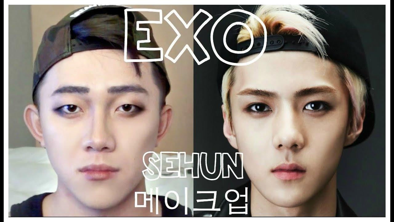 exo �� sehun �� makeup tutorial ������ ���� youtube