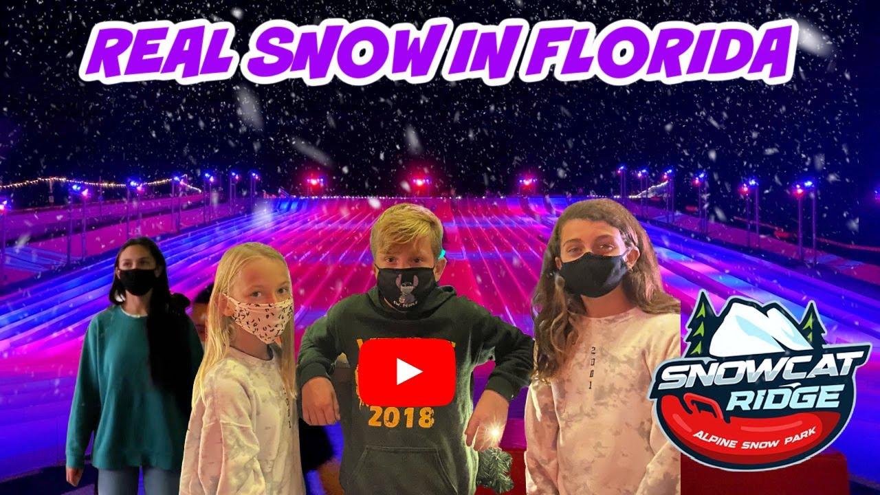 SNOW TUBING IN FLORIDA! SNOWCAT RIDGE! WHO'S THAT? EMMA AND ELLIE