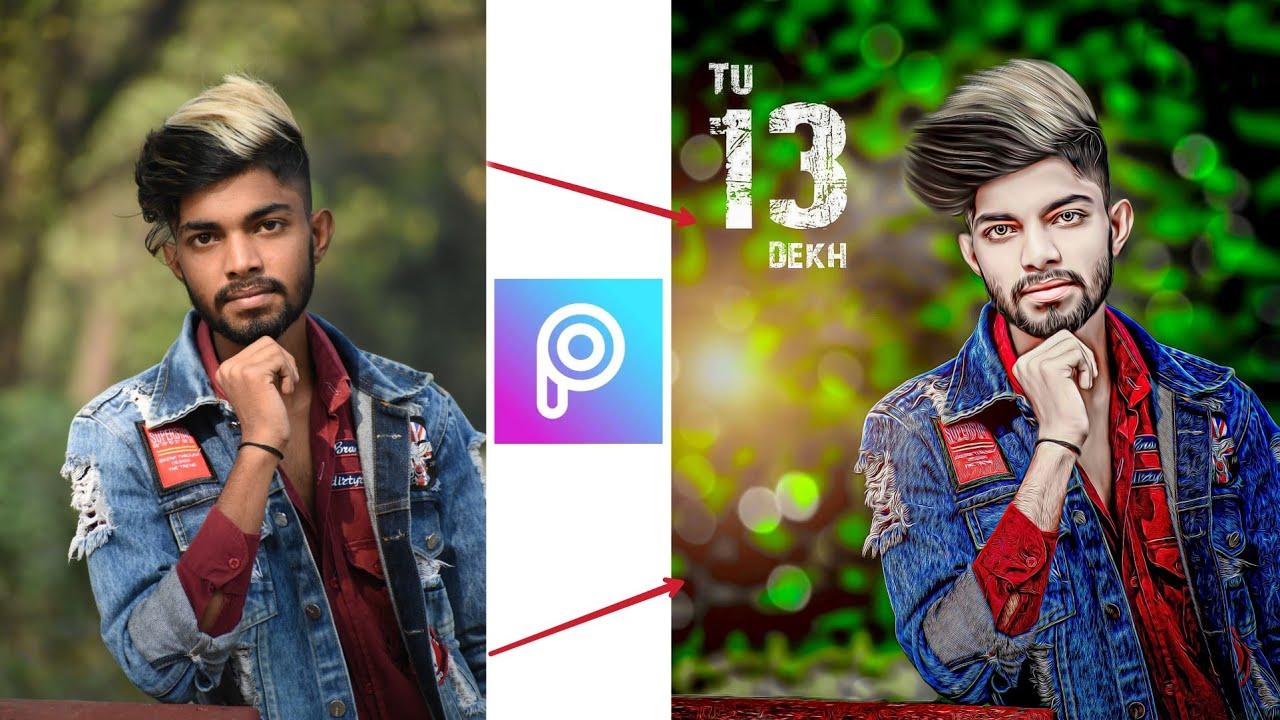 PicsArt Background Change Photo Editing | PicsArt stylish Photo Editing l photo Editing in Hindi