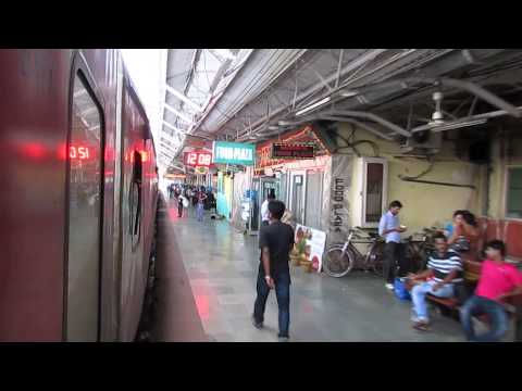 12236 New Delhi-Dibrugarh Rajdhani express departing from New Jalpaiguri railway station!