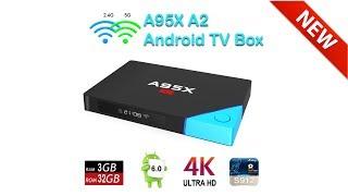 nEXBOX A95X A2 Box TV ANDROID Amlogic S912 RAM de 32 Go, ROM de 32 Go, ROM 1000M LAN 5.0G WIFI