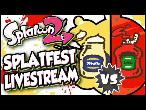 Splatoon 2 - Splatfest: Mayonnaise vs. Ketchup   MAX RANK Livestream With Abdallah!