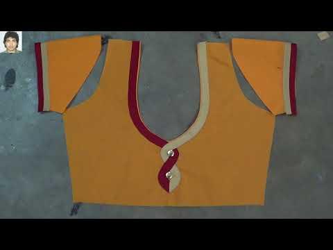 updates new button blouse design # blouse neck design # designer blouse # latest blouse design