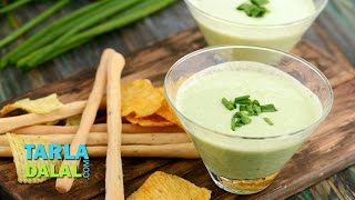 Spring Onion And Curd Dip By Tarla Dalal