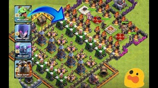 Who can survive this difficult troll trap on coc😎😰troops vs troll trap|clash of clans|unity clash|