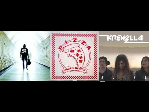 Alan Walker Martin Garrix & Krewella - Faded Pizza & A DJ Alash Mashup