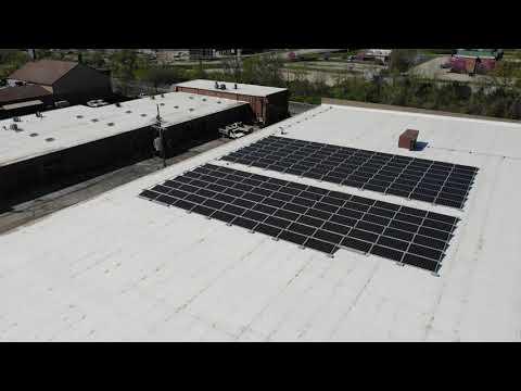 American Metals Supply - Drone Flyover Of New Solar Panels At Fenton, MO Branch