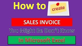 How to Create INVOICE in Microsoft Excel : Excel Tips and Tricks [Urdu / Hindi]