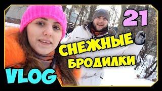 ч.21 (VLOG) Прогулки с Миникотиком - Снежные Бродилки 2014