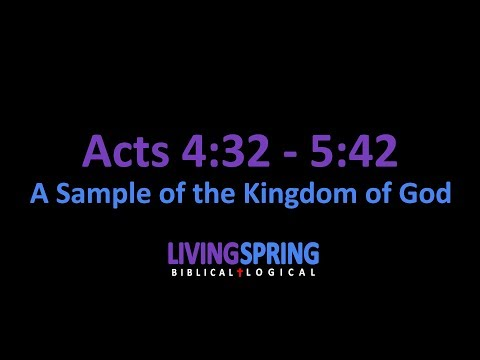 Utopia Can Exist: An Imitable Model! (Acts 4:32-5:42)