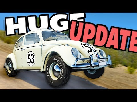 This car gets MAD if you CRASH It?! HERBIE HUGE UPDATE! - BeamNG Drive Herbie UPDATE