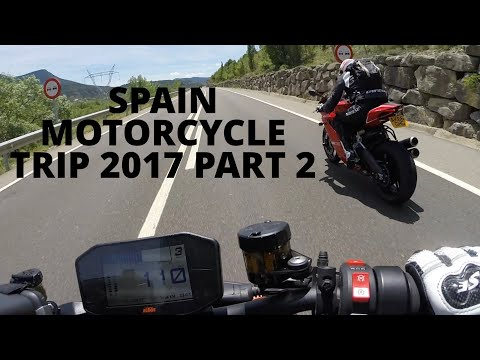 SPAIN MOTORCYCLE TRIP 2017, Part 2, First day riding the mountain roads and random chat