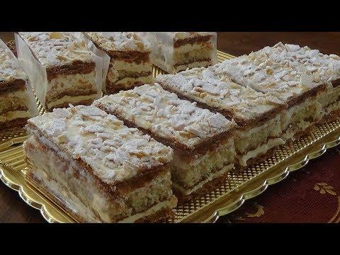 Gâteau russe, pâtisserie française/  (حلوى الروسية (حلويات فرنسية تشبه الميلفاي