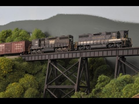 LAYOUT TOUR - N Scale - Norfolk Southern / CSX - Charleston, Roanoke and Eastern Railway