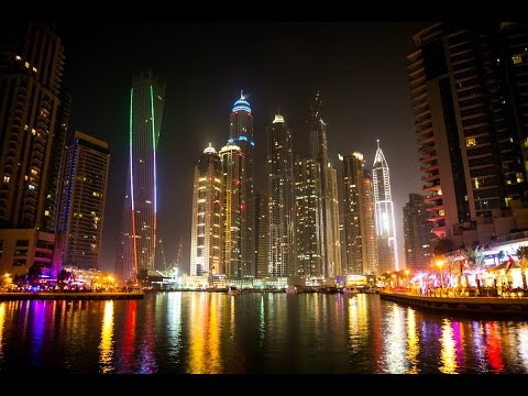 Dubai Marina - UAE - The Marina Walk + Beach - JBR -  مرسى دبي ومنطقة أبراج شاطئ جميرا  - DubaiTUBE