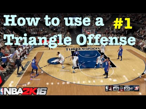 NBA 2K16 Tutorial : Triangle Offense Unstoppable How to Score lots and win every game #48