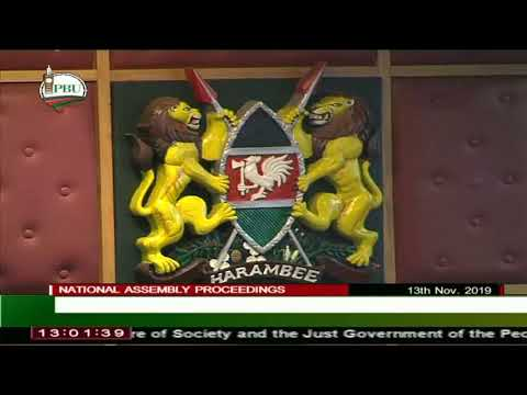 The National Assembly, 13th Nov 2019, live proceedings.