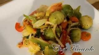 Stir Fry Brussel Sprouts. Full Recipe.