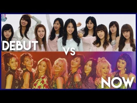 K-Pop Girl Groups - Debut vs. Now - Live Stages [UPDATED]