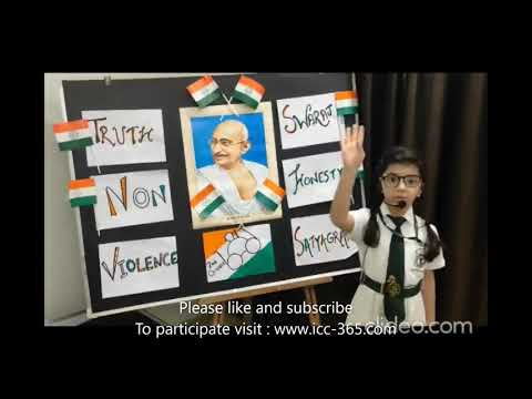 Gandhiji poem by cute and little girl