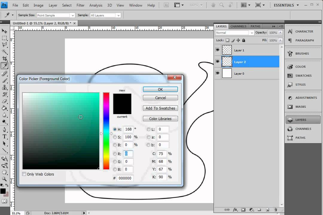 Drawing Lines With The Pen Tool : Photoshop how to draw with the pen tool and colour