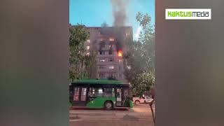 В Нижнем Джале сгорела квартира в этажном доме