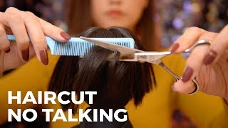 ASMR Relaxing Salon Haircut | Head Massage, Scissors and Clipper(No Talking)