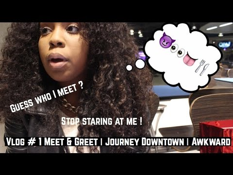 Vlog # 1 : MEET & GREET! | JOURNEY DOWNTOWN | AWKWARD !