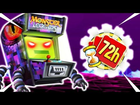 Monster Legends | GETTING ARCADE LEGENDARY MONSTER | 72 HOUR CHALLENGE CARD SHUFFLING GAMEPLAY