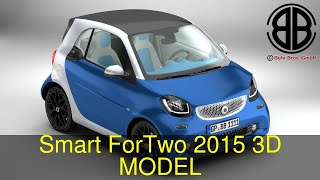3D Model of Smart ForTwo 2015 Review