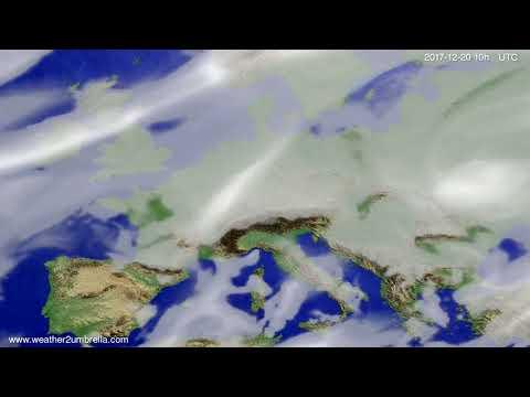 Cloud forecast Europe 2017-12-18