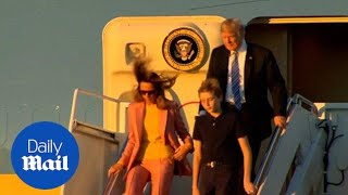 Trump and family land in Florida for a relaxing weekend - Daily Mail