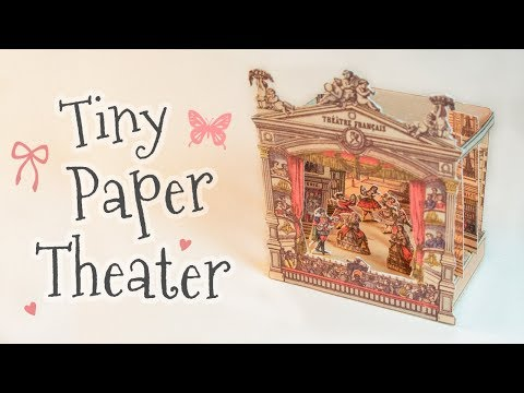 Tiny Antique Paper Theater (step by step tutorial)