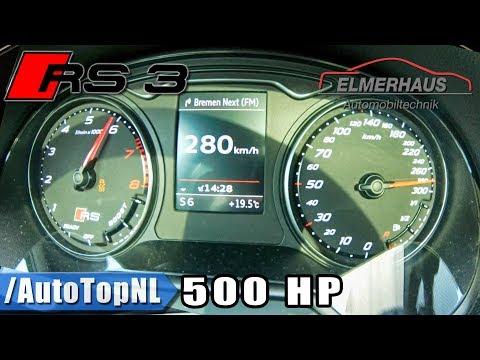 500HP Audi RS3 Elmerhaus ACCELERATION 0-280km/h LAUNCH CONTROL by AutoTopNL