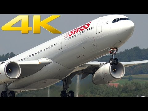 4K | Zurich Airport: Plane Spotting in Switzerland
