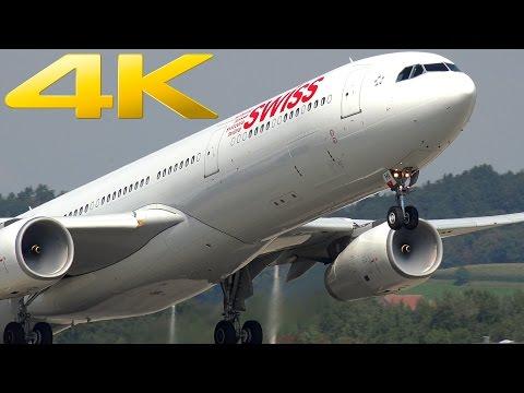 4K | Zurich Airport: Plane Spotting in Switzerland