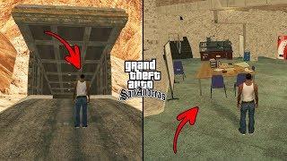 Secret Bunker in GTA San Andreas! (Hidden Underground Place)