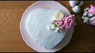 Sevgililer Günü İçin Kolay Kalp Pasta - Easy Heart Cake For Valentine's Day