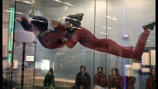 Rowan and Ivan go indoor skydiving at iFLY!