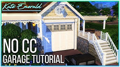 Sims 4 Tutorial - Ground Level Garage With Foundation | Kate Emerald