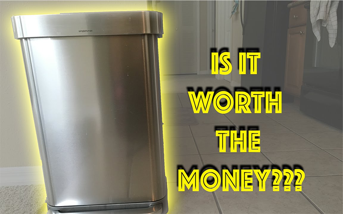 simplehuman kitchen trash can patio review 45l 11 9gal youtube