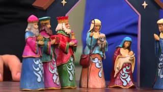 Jim Shore Heartwood Creek 7-piece Nativity Set With Alberti Popaj