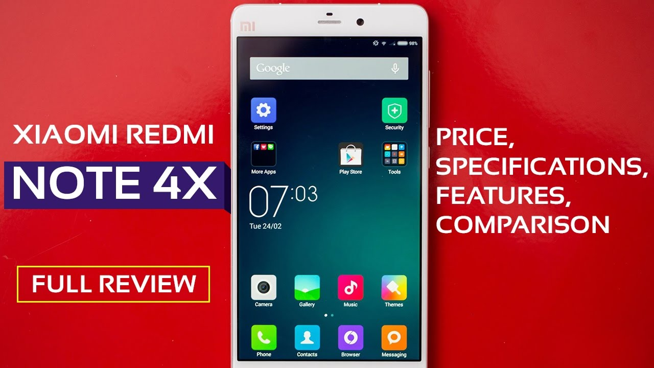 Xiaomi Redmi Note 4x Price  Specifications  Features
