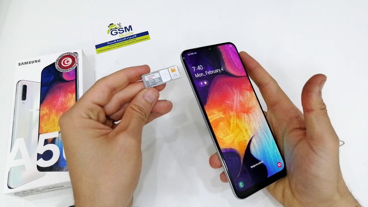 INSERT SIM & SD CARD Samsung Galaxy A10, A20, A30, A40, A50, A70 (Dual SIM)