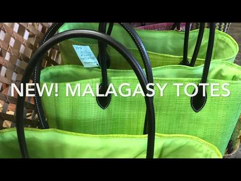 Anise Green Malagasy Raffia Tote - imported from Africa